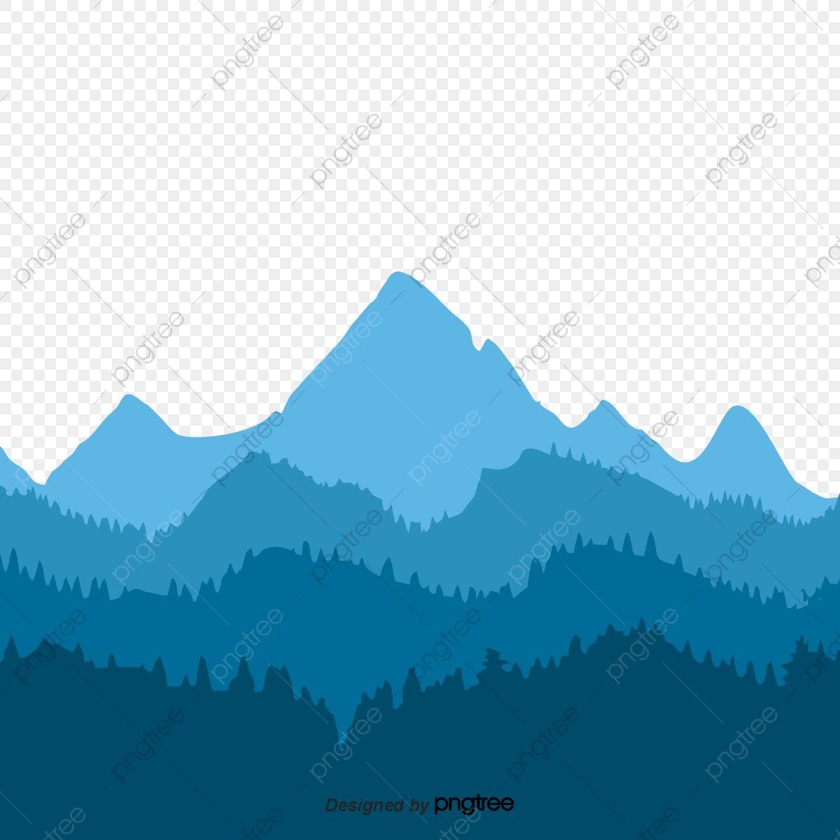 Blue Mountain Silhouette Mountain Silhouette Blue Mountain Blue Poster