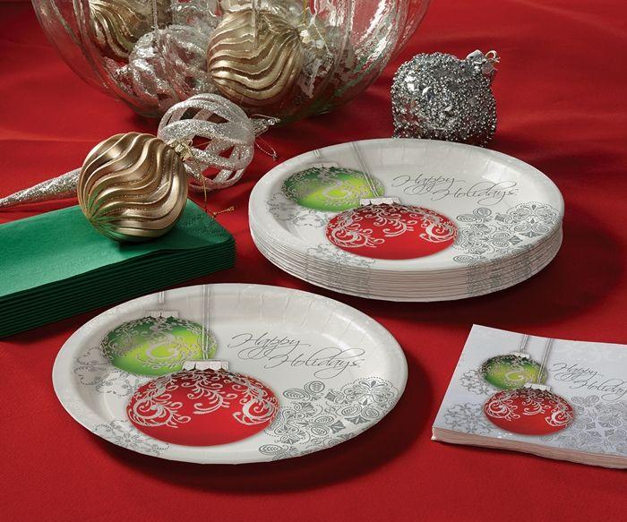 Ornaments Plate 25 Pkg 12 Pkgs Case Bulk Pricing Christmas Tableware Winter Entertaining Christmas