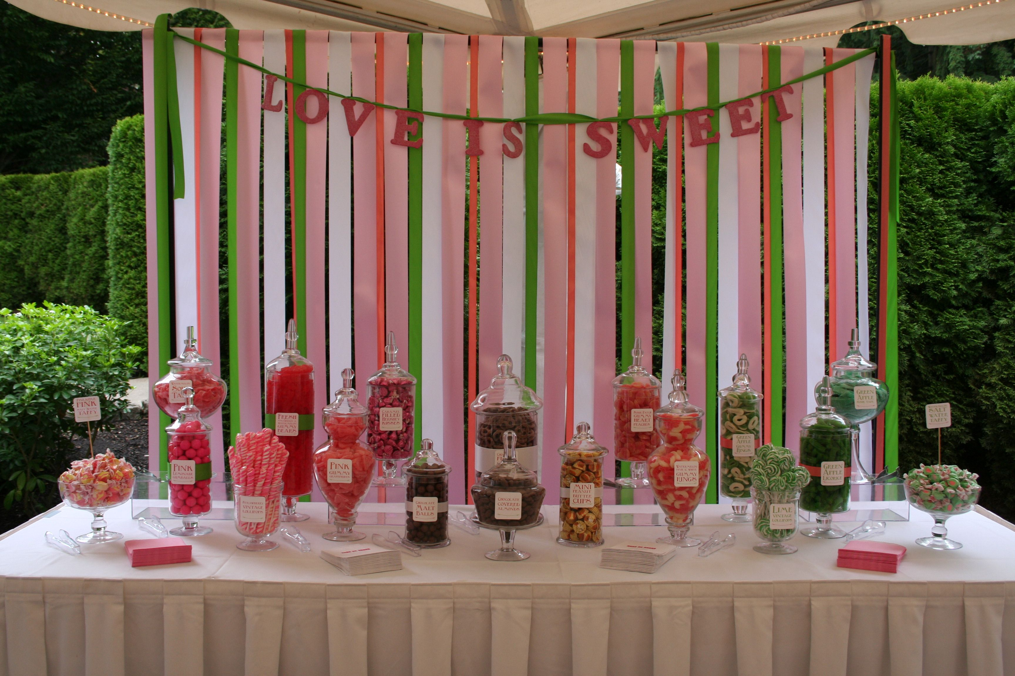 how to make a candy buffet backdrop