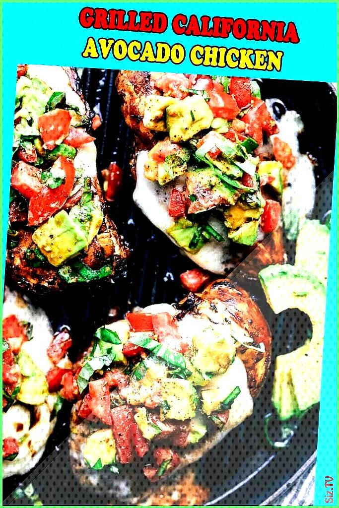 Grilled California Avocado Chicken marinates in an amazing honey garlic balsamic sauce and is grill