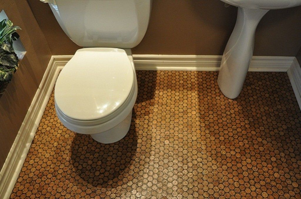 Painting Of Cork Floor In Bathroom Eco Friendly And Durable