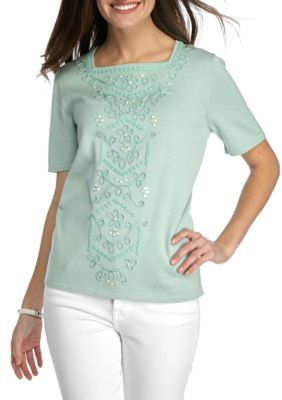 Ladies 16-28 New Short Flared Sleeve Green Tunic Sheer Top Angel Sleeve Ladies