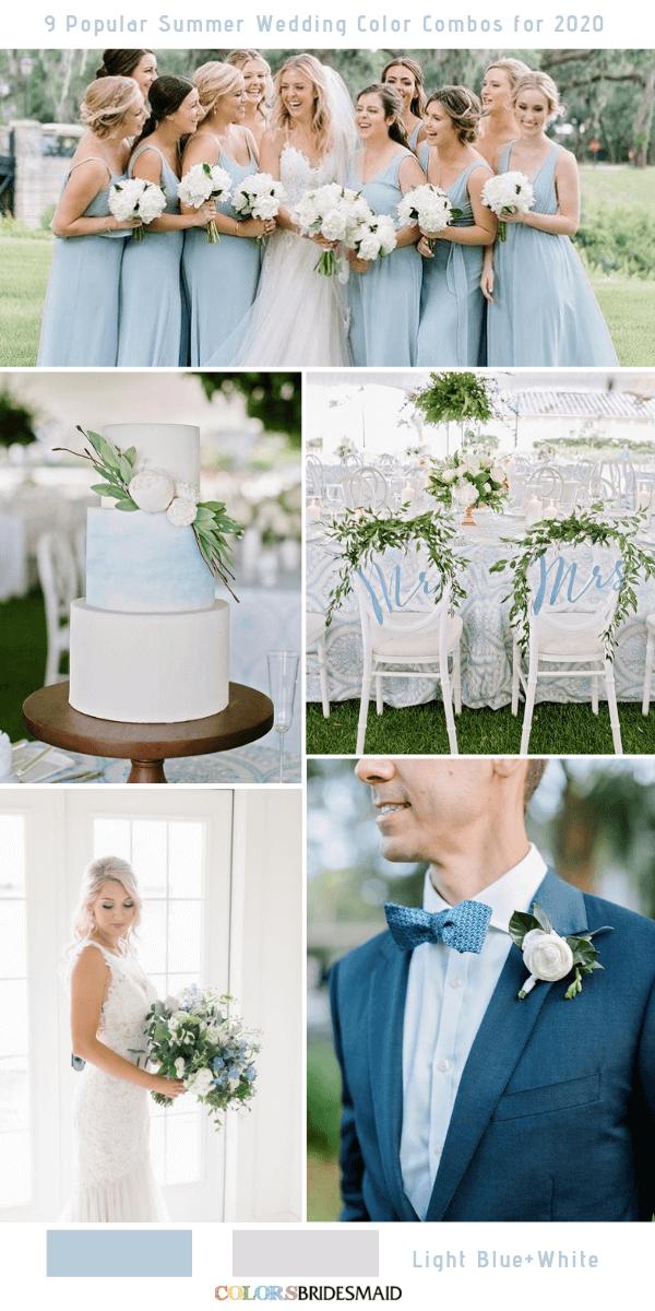 9 Popular Summer Wedding Color Combos for 2020 Light