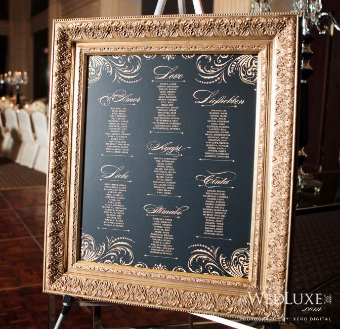 Very elegant this black and gold framed table seating plan xx also gorgeous southern wedding at magnolia plantation  gardens rh pinterest
