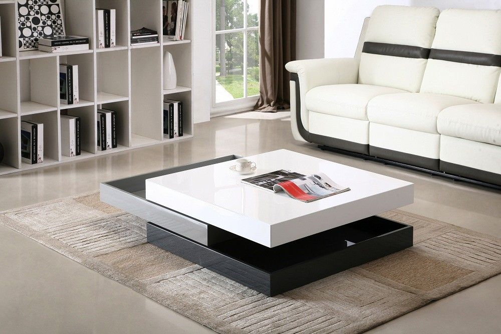 Modern Rotary Coffee Table Cw01 Glass Table Living Room Living