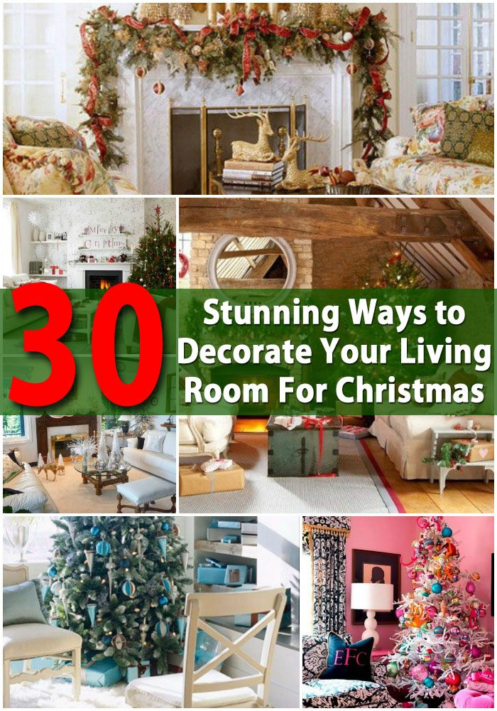 30 Stunning Ways To Decorate Your Living Room For Christmas Most