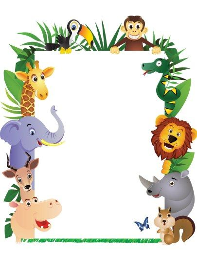 Jungle theme border https www ohbaby co nz lifestyle birthday my invitations cute welcome to join the jungle party of my little boy who turned stopboris Choice Image