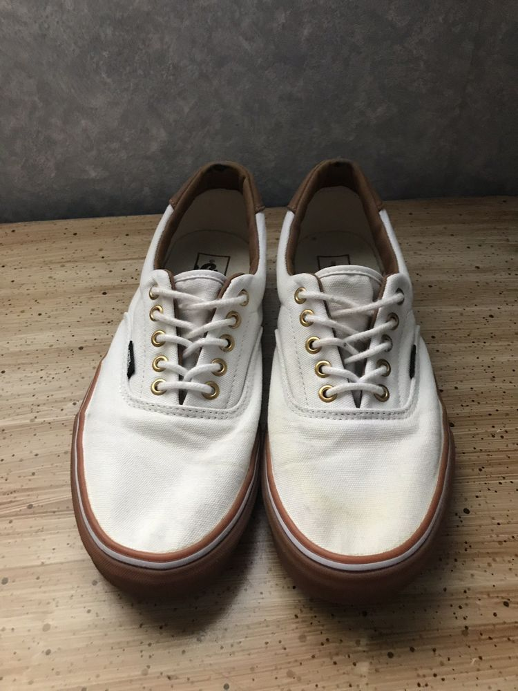 white vans with brown leather