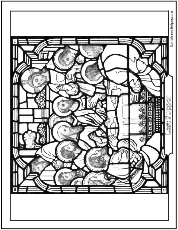 Last Supper Picture Holy Thursday Coloring Page