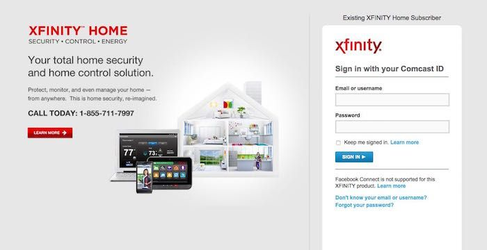 Xfinity Home Security Sign In Xfinityhomesecurity Com Security