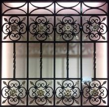 Elegant Decorative Iron Window Grill Design From Guangzhou Suji