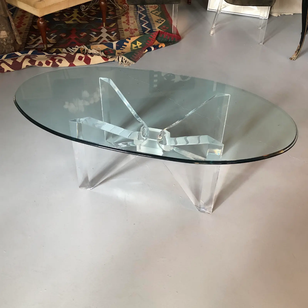 1970s Mid Century Modern Coffee Table With Glass Top And Lucite Butterfly Base Chairish Coffee Table Mid Century Modern Coffee Table Glass Top Coffee Table [ 1000 x 1000 Pixel ]