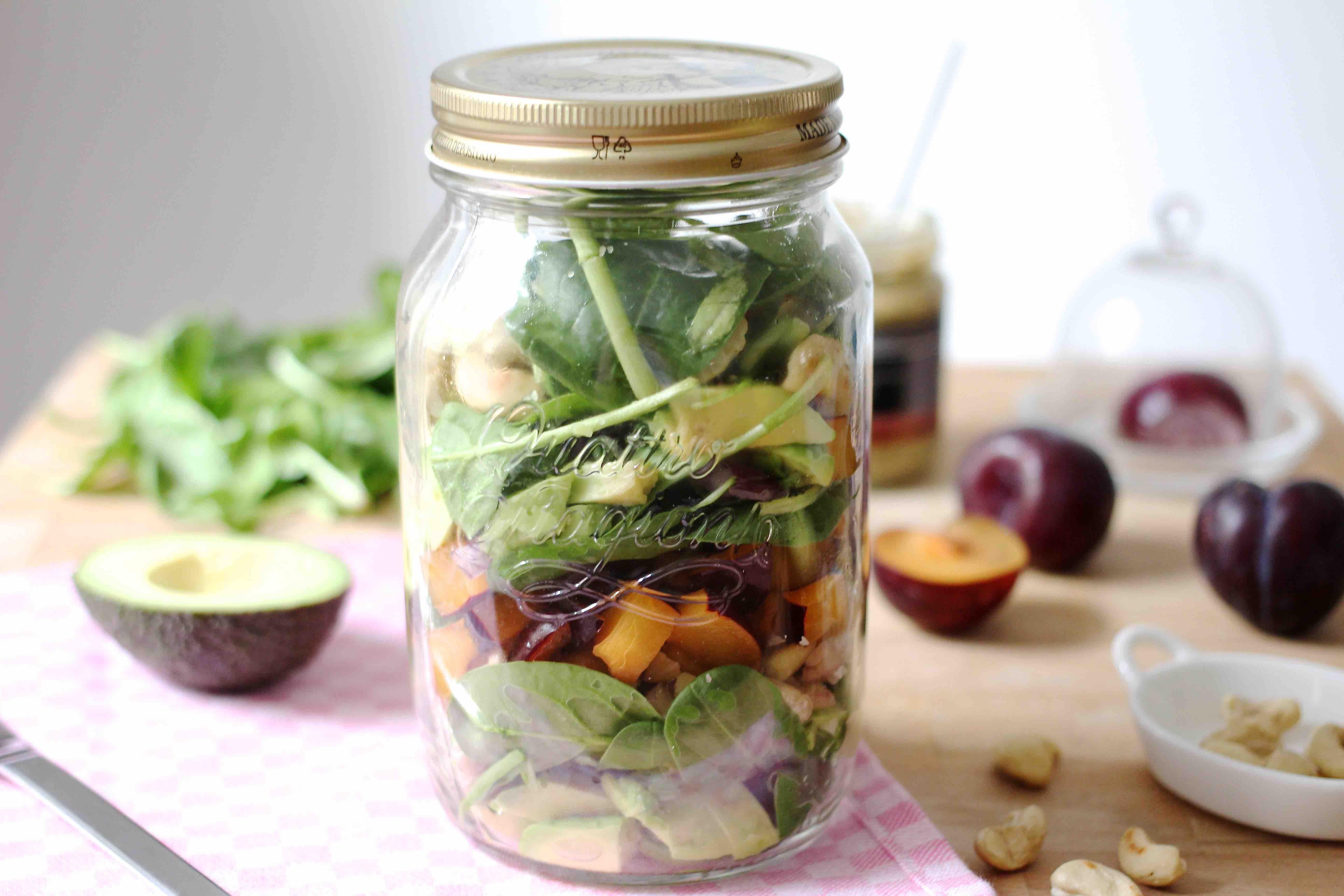 Shaking Salad / Salad im Glas / Maroni - Spinat Salad