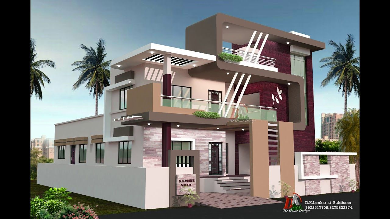 Front Side Staircase Tower House Designs House Elevation Double   Front Staircase House Design   Residential   Outside   Front Jina   Home Front Valuation   Sitout