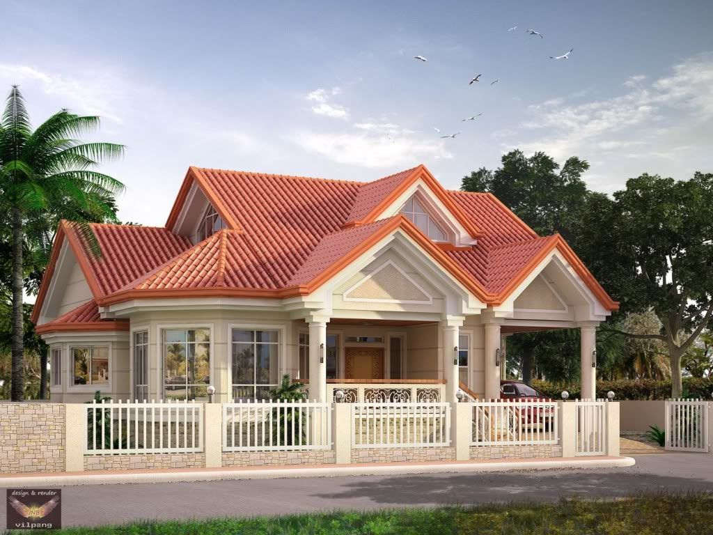 Elevated bungalow with attic page bungalow type house for Bungalow house plans philippines