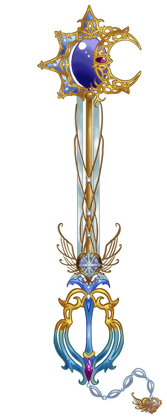 (Oh, shit, look at that one!) Keyblade~! This is a fanmade one; I'm big on Kingdom Hearts!