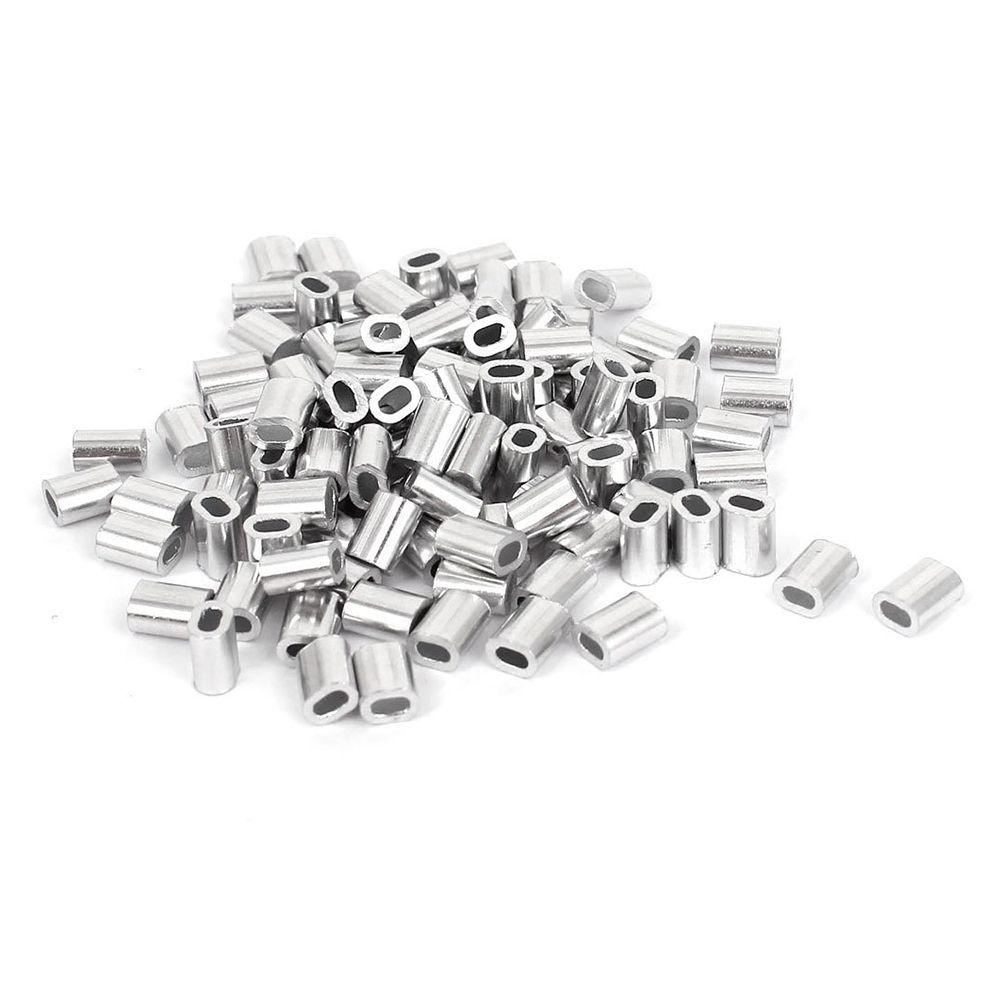 100 Pcs 1mm Steel Wire Rope Aluminum Ferrules Sleeves Silver Tone Silver Tone Silver Things To Sell