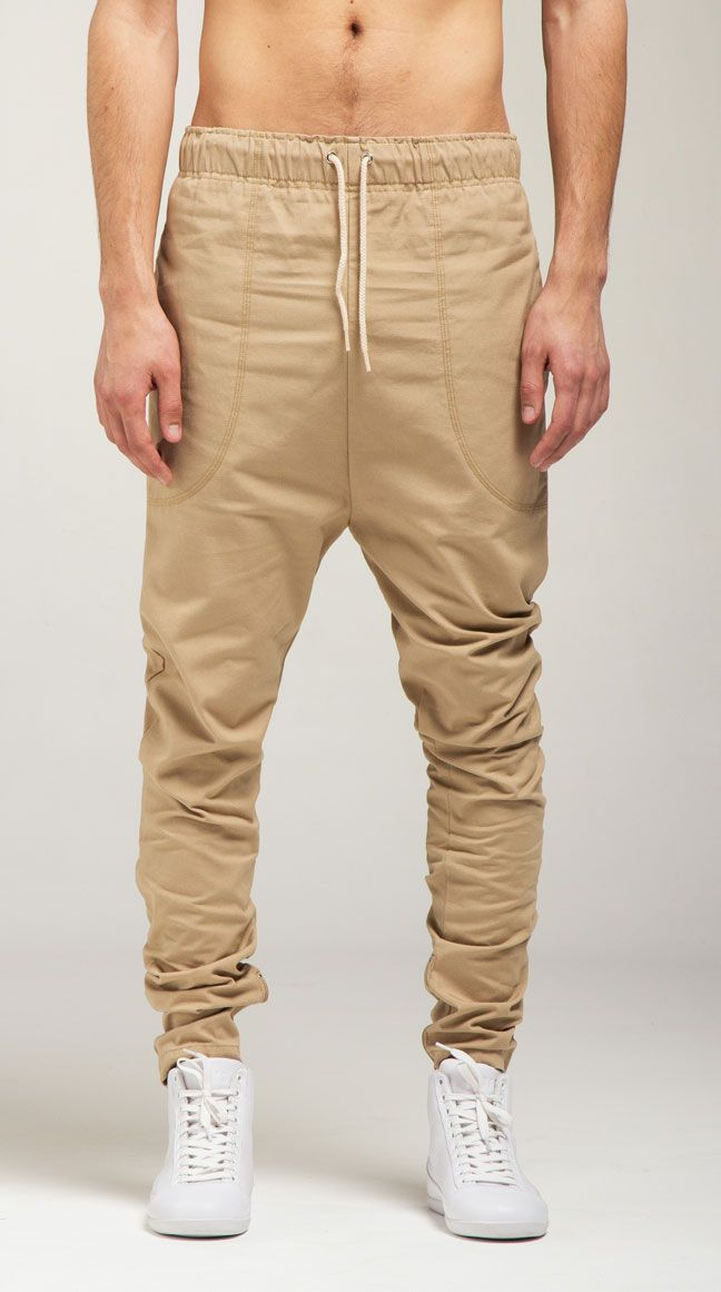 Drop crouch elastic chino