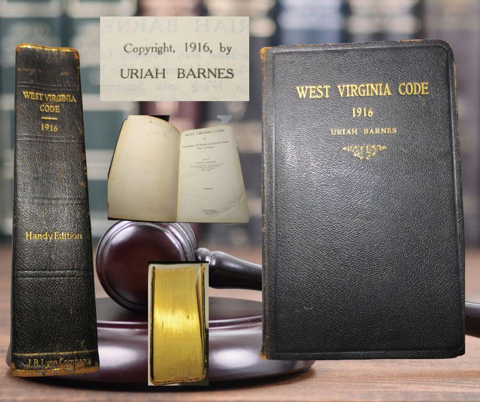 Antique bookwest virginia code c1916 by uriah barnes