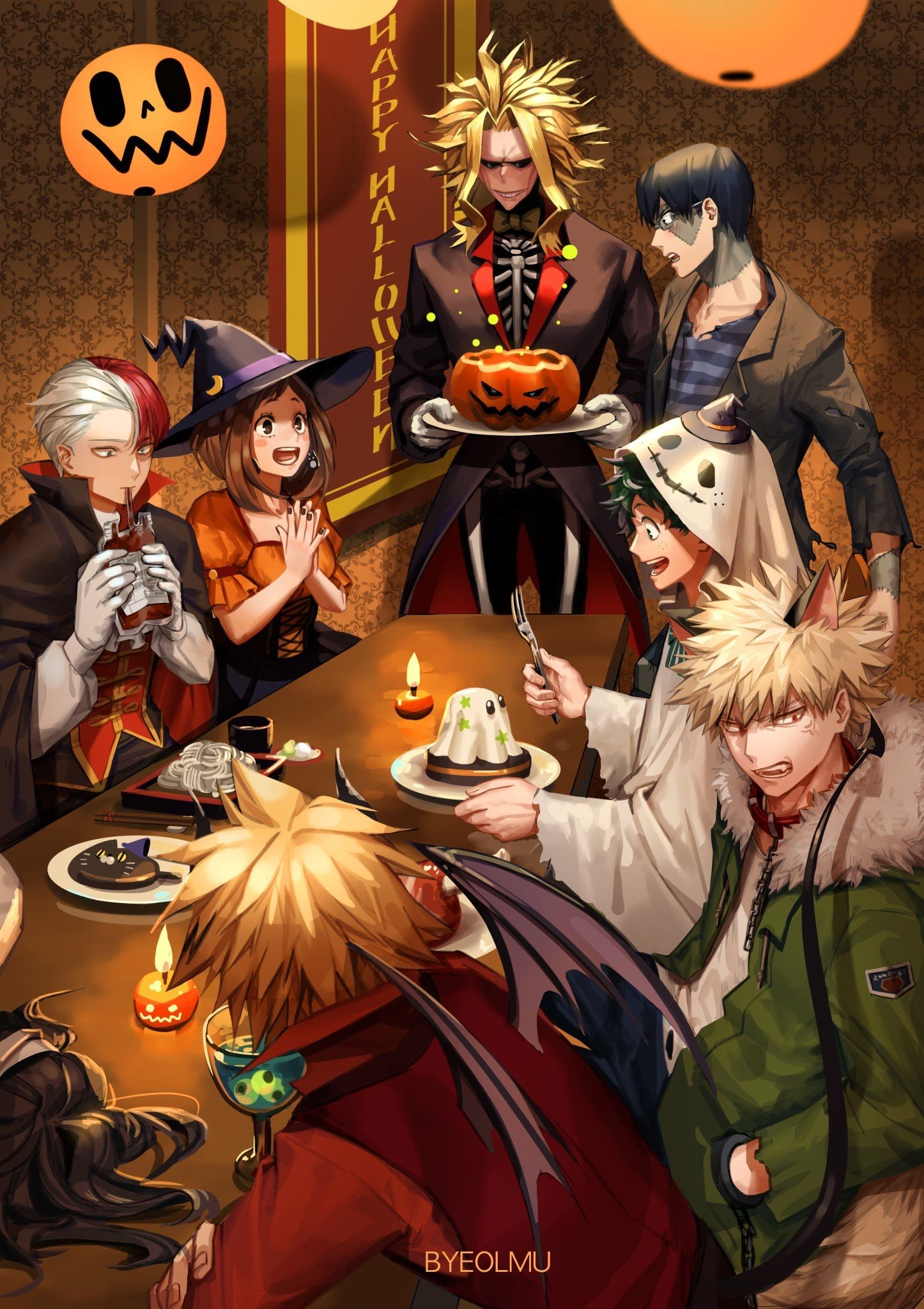 We'd like to present you with a collection of my hero academia halloween wallpapers desktop to decorate your desktop backgrounds. Bnha Halloween Wallpaper | Wallpaper Album - WALLPAPERS ALBUM