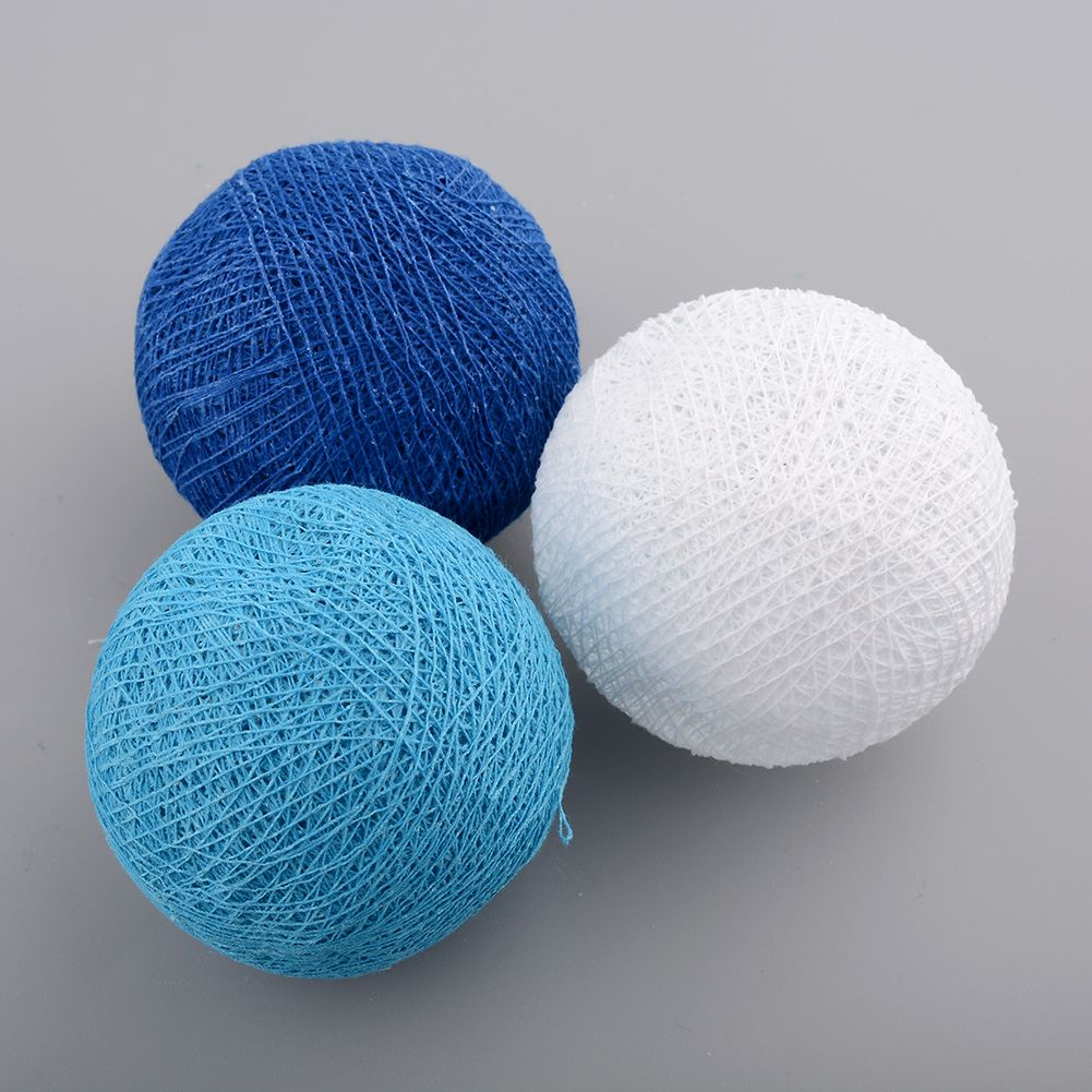 Aladin Gorgeous 3m 20 Blue Creative Handmade Cotton Ball Light Bal String Luces Decorativas For Xmas Feast