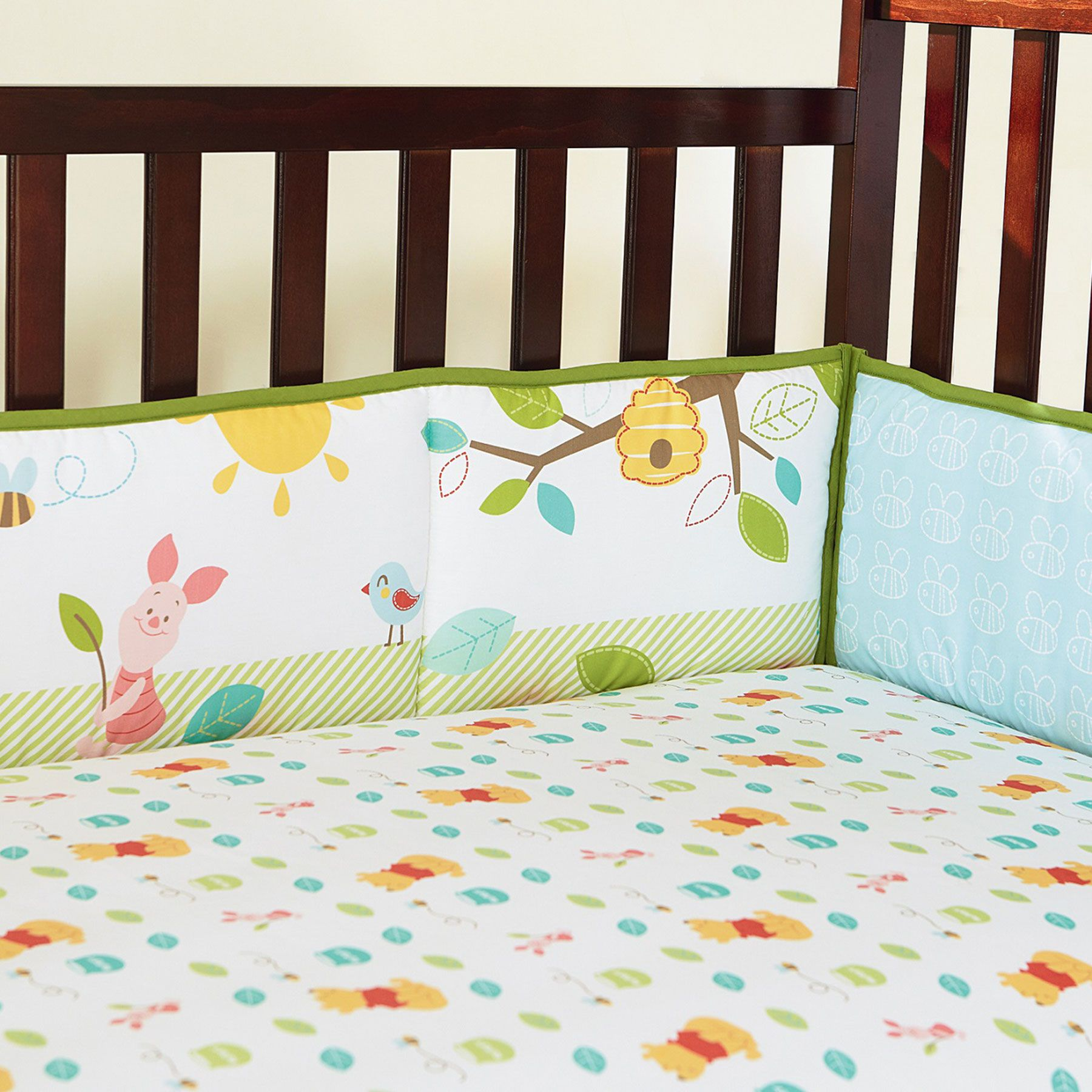 Winnie the pooh toddler bedding - Winnie The Pooh Sunny Hunny Day 4 Piece Secure Me Crib Bumper