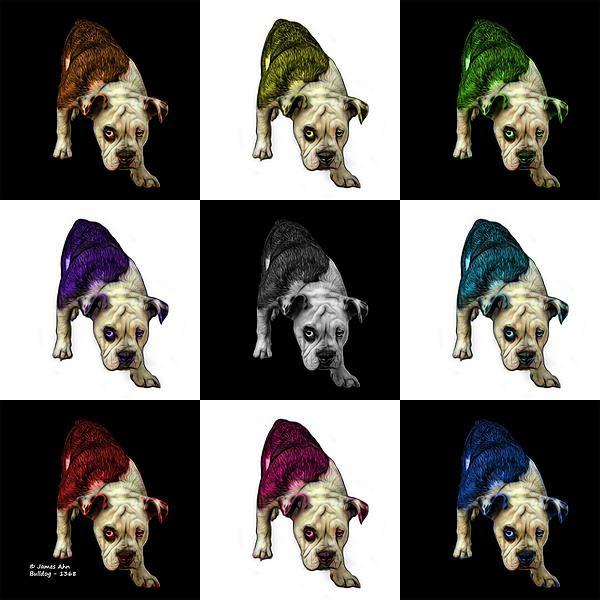 English Bulldog Dog Art - 1368 - v1 - M Painting