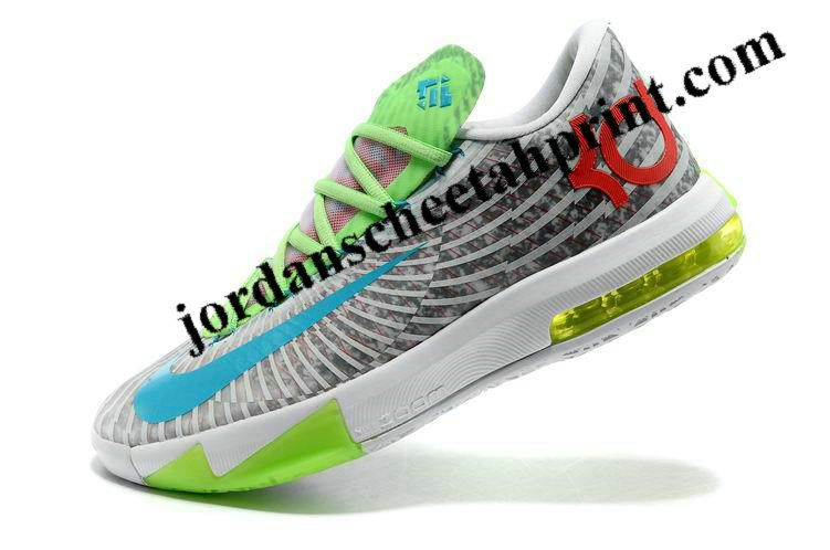 KD VI Pure Platinum Electric Green Sport Red 599424 121 for sale