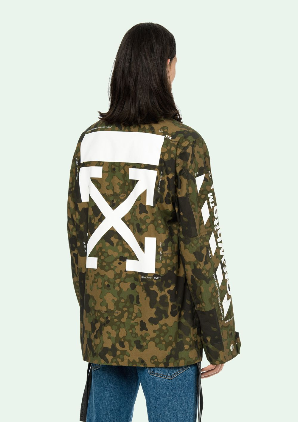 Off White Field Jackets Offwhite Menswear Field Jacket Clothes [ 1413 x 1000 Pixel ]