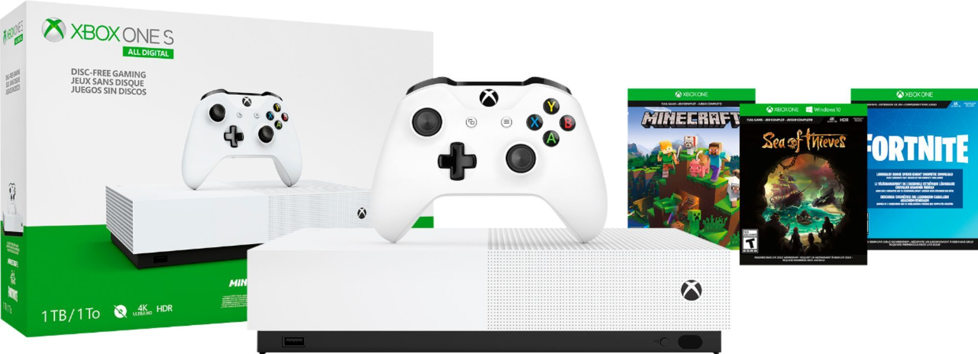 Microsoft Xbox One S 1tb All Digital Edition Console Disc Free Gaming White Njp 00050 Best Buy Xbox One S Xbox One S 1tb Xbox One