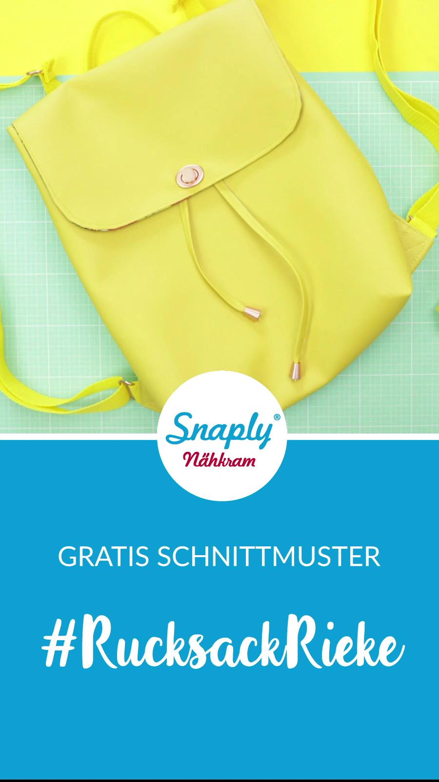 Rucksack nähen - gratis Schnittmuster #tutorielsdecouture