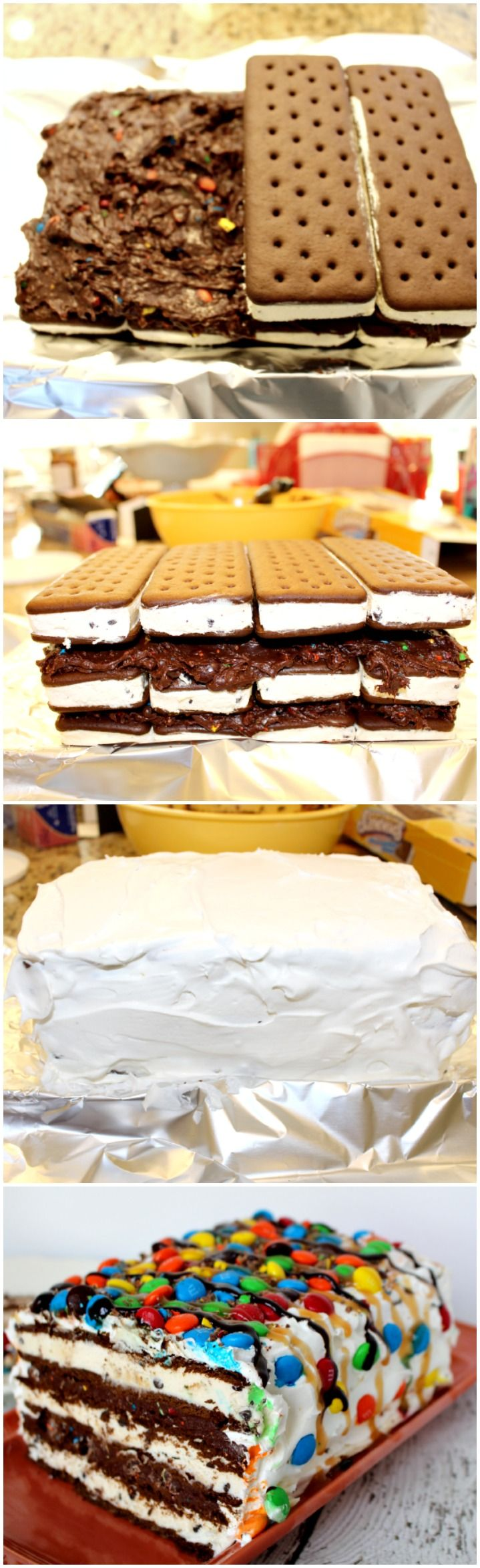 NO bake ice cream sandwich cake Favorite Desserts Kids Gteaux