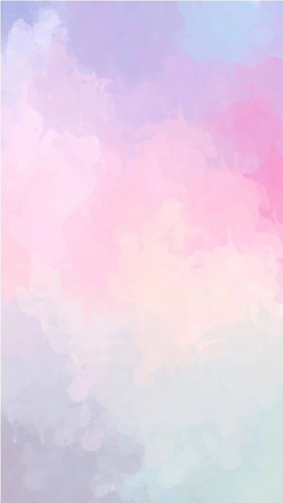 Watercolour Sky Clouds Pink Purple Blue Phone Background