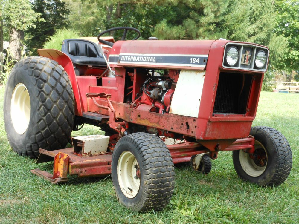 International 184 Tractor : International ih low boy utility tractor point hitch