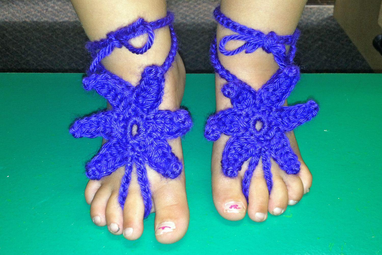Baby Starfish Barefoot Sandals - #freepattern #crochet ...