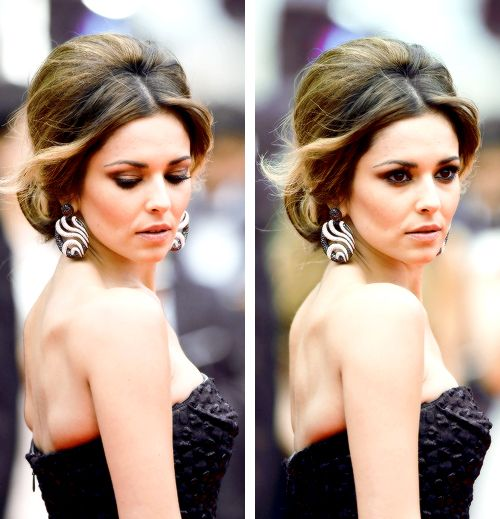 Cheryl Cole Wedding Hairstyle: Gorgeous Cheryl Cole With Retro Hairstyle At 2014 Cannes