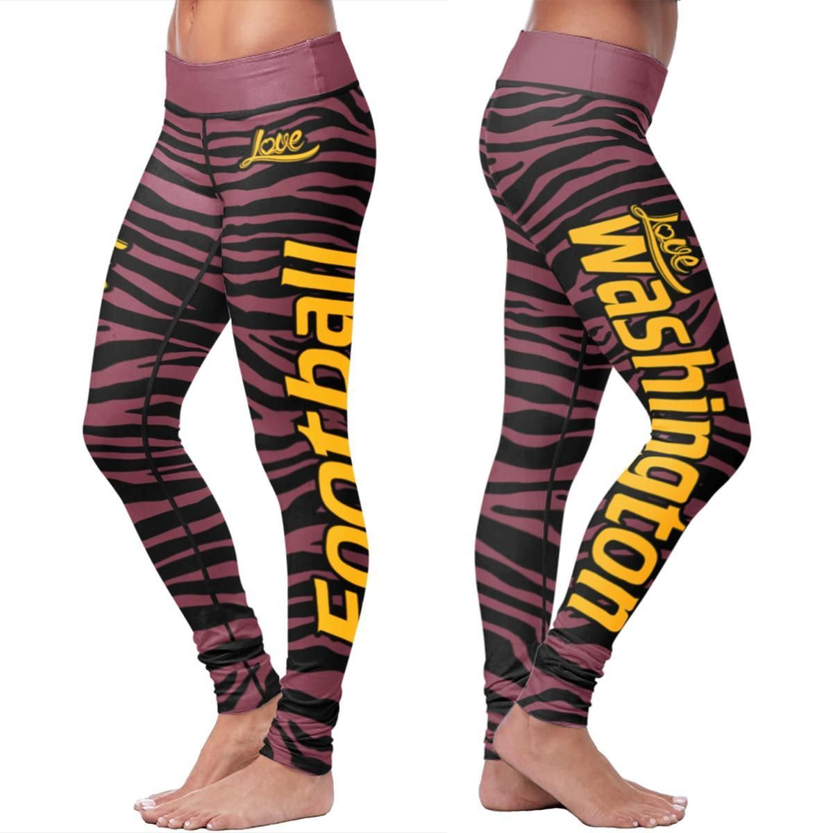 Washington football striped leggings striped leggings