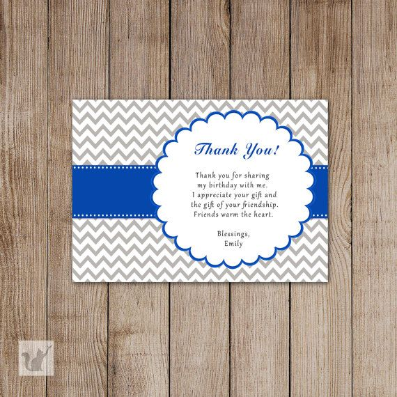Retro Funky Personalized Party Thank You Cards