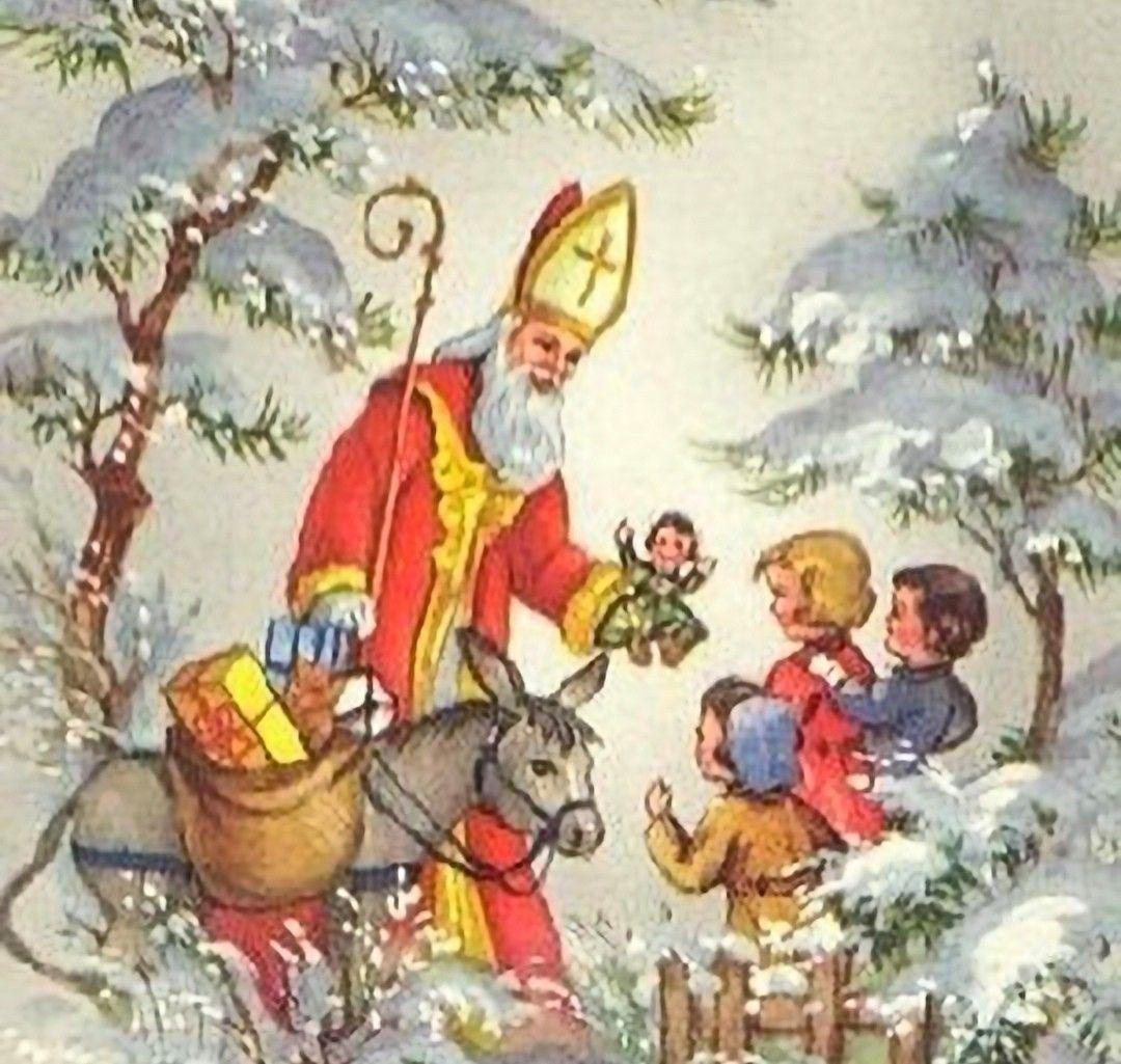 Pin By Nancy Meyer On Vintage Christmas Father Christmas Saint