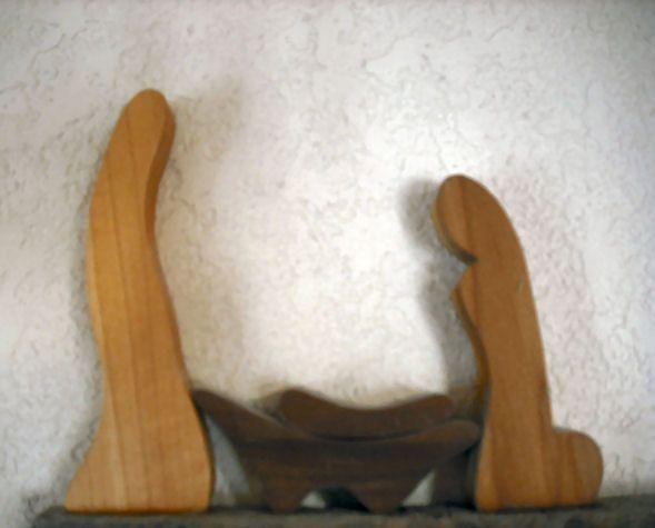 Nativity set - scroll saw
