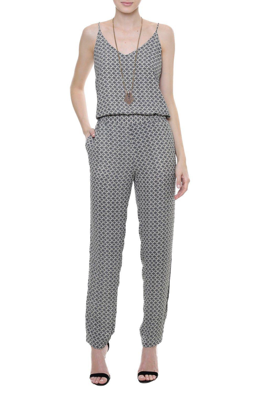 036e2e3bc Regata Crepe Gravataria Venice   costura   Jumpsuit, Casual jumpsuit ...