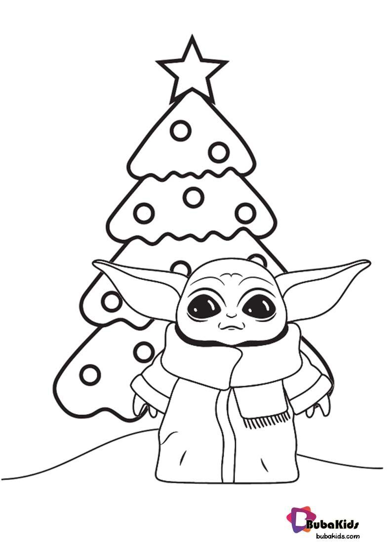 Baby Yoda Special Christmas Edition Coloring Page Coloring Pages Cartoon Coloring Pages Free Coloring Pages
