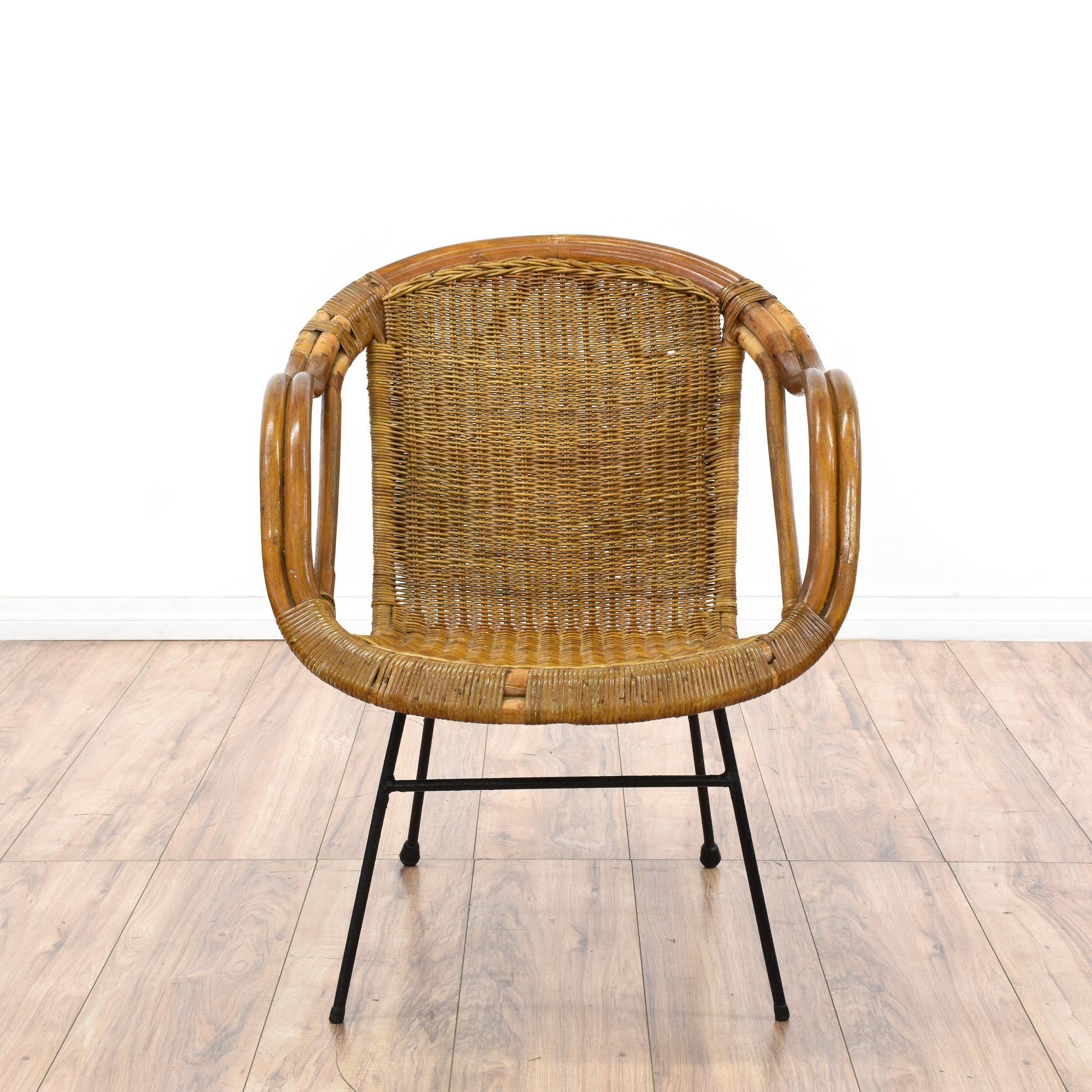 Mid Century Modern Side Chair Mid Century Modern Wicker Accent