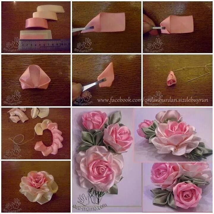 Kurdeleden gl yapm acessrios de fitas e decorao etc before as the world looks for more eco friendly and longer lasting alternatives the post diy pretty satin ribbon roses free tutorial appeared first mightylinksfo