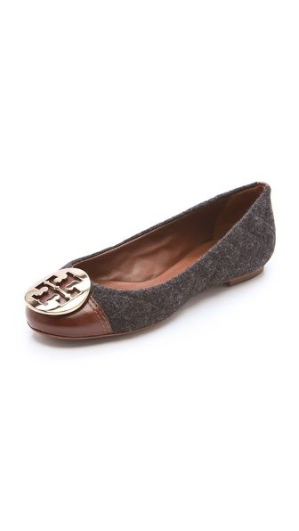 Click Image Above To Purchase: Tory Burch Parker Cap Toe Logo Flats