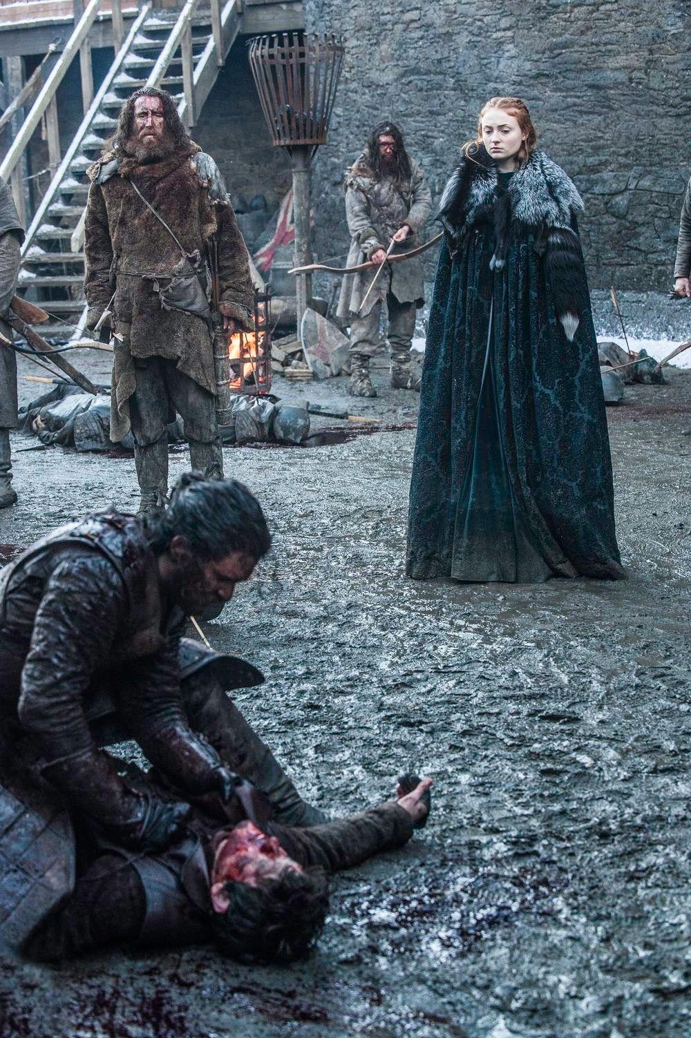 Sansa robe verte