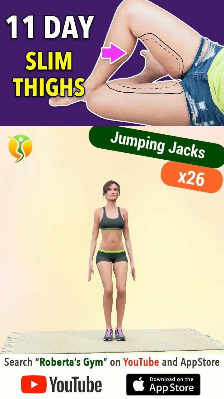 SLIM INNER THIGHS in 11 Days - Thigh Fat Loss