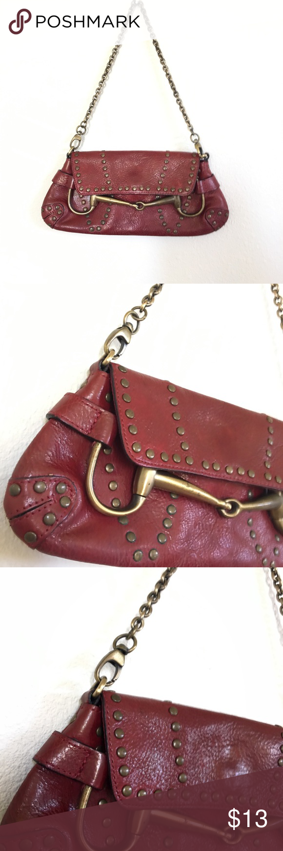 Vintage Wilson's Pelle Studio red leather purse Red