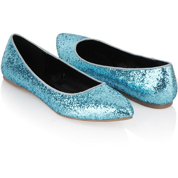 Glittered Ballet Flats ($9.99) ❤ liked