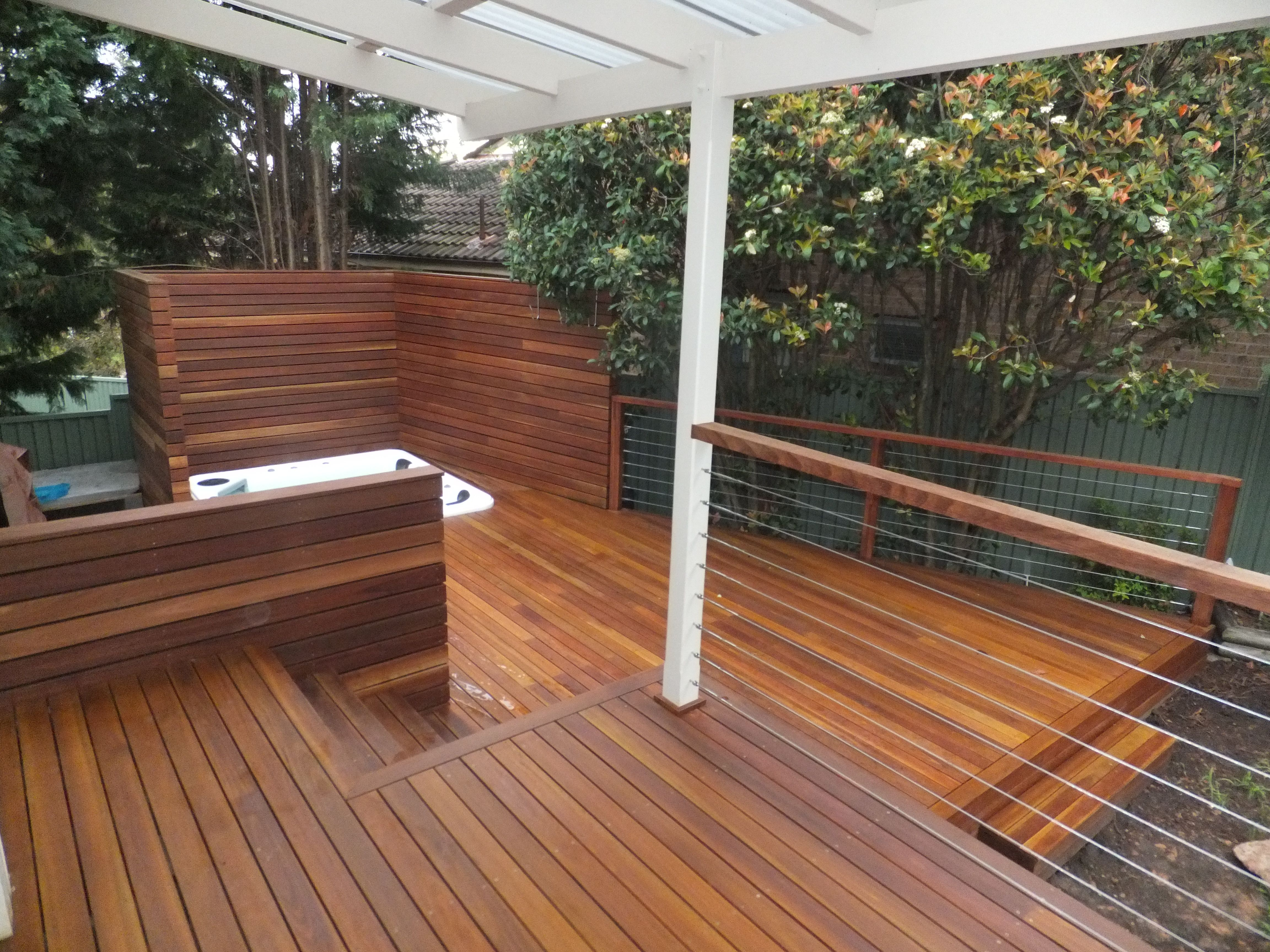The Beauty Of A Spotted Gum Deck Sydney Timber Decking At Its Best Curved Pergola Pergola Stairs Architecture
